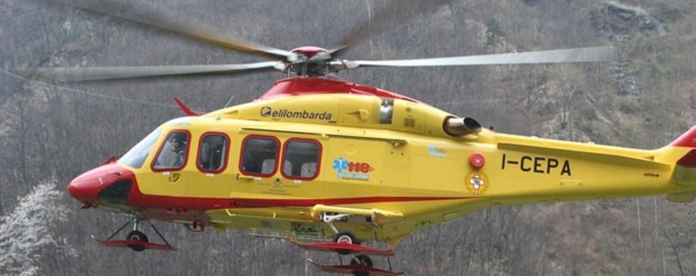 Elicottero Lecco : Tragedia in grignetta escursionista precipita e muore
