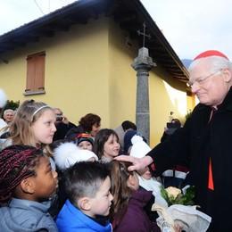 Imberido, il cardinale Scola  «Non so quando ma starò con voi»