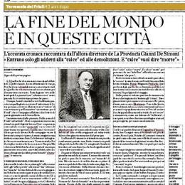 Friuli, 40 anni dopo  Domenica quattro pagine speciali