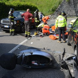 Grave incidente in via Statale per Lecco