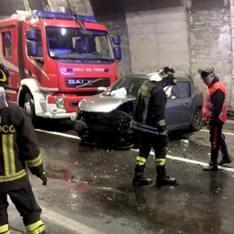 Incidente in galleria Strada bloccata a Menaggio