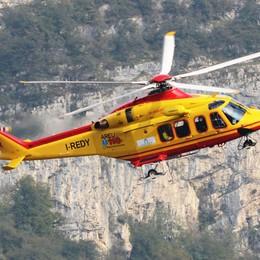 Infortunio sul Moregallo  Alpinista ferito alla testa