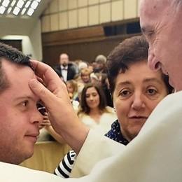 Il sogno avverato  L'abbraccio del Papa