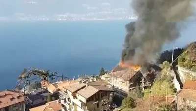 Incendio a Bellano