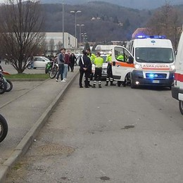 Albavilla, scontro tra moto al raduno  Giovane all'ospedale in elicottero
