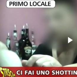 Meratese, vergogna su Striscia  «Alcol ai minori nei bar senza problemi»