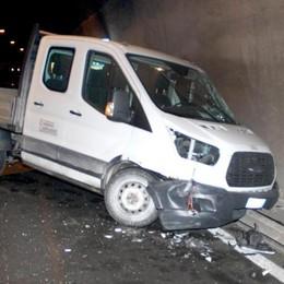 Incidente a Menaggio  Scontro tra due camion