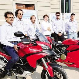 Ducati  al Poli di Lecco   per  i test su strada