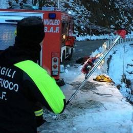 Auto nella scarpata a Perledo  Un morto e due feriti