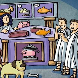Antichi romani buongustai  nel cibo fino a 20 sostanze diverse