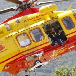 Cade sul sentiero sul Grignone All'ospedale di Lecco in elicottero
