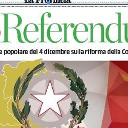 Con La Provincia TUTTOREFERENDUM  Otto pagine per la guida al voto