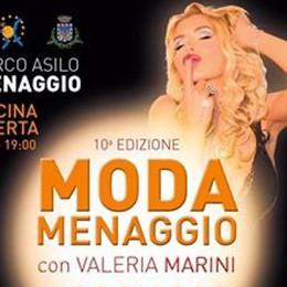 Valeria Marini a Menaggio   per la sfilata di domenica