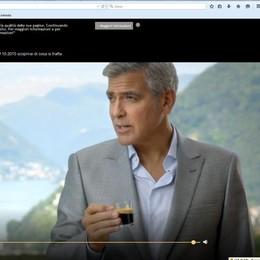Clooney e il lago di Como  via dallo spot del caffè