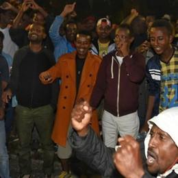 Conclusa la protesta  con i migranti a Como  (guarda il video)