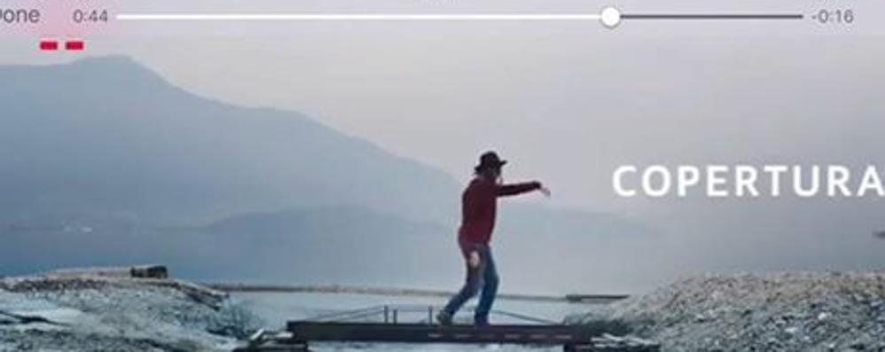 Lo spot della Tim sul lago  Sorico e Gera in televisione