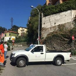 Una crepa nel muro, pericolo di crollo   Chiusa la provinciale della Muggiasca