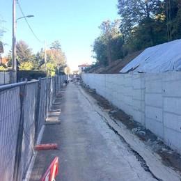 Merate, nuovo il muro è in ritardo  In via Montegrappa corre la polemica