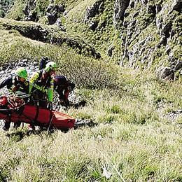 Alpinista cade sul Corno Medale Quattro ore per portarlo in salvo