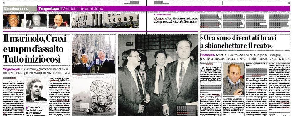 Venticinque anni fa Manipulite  Su La Provincia due pagine speciali   Vota il sondaggio