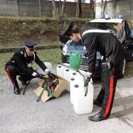 Ruba carburante dalle escavatrici  Arrestato a Bosisio dai carabinieri