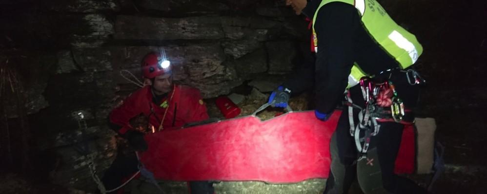 Cernobbio, speleo salvato nella notte  Era in grotta a 100 metri di profondità