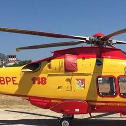 """Due elicotteri per il soccorso La Sicilia """"ringrazia"""" Colico"""