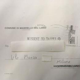 Il Comune scrive una lettera a Milano  Ma le Poste la spediscono a Taipei