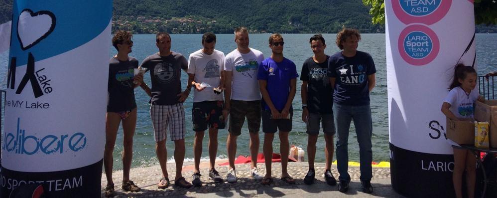 Duecento alla Bellagio-Lierna  Moroncelli, bracciate vincenti