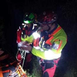 Alpinisti in difficoltà, intervento in notturna