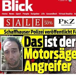 Svizzera, terrore a Sciaffusa Ferisce 5 persone con la motosega