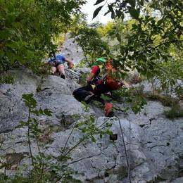 Ragazza in difficoltà sulla ferrata  Arriva il Soccorso alpino