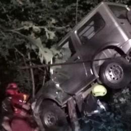 Con la jeep nel dirupo   Ottantenne miracolato