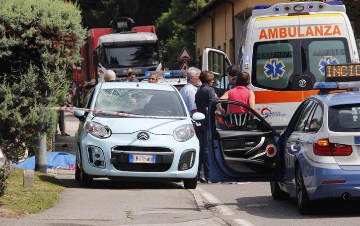Investito sul marciapiedi  Ballabio piange Pedrazzoli
