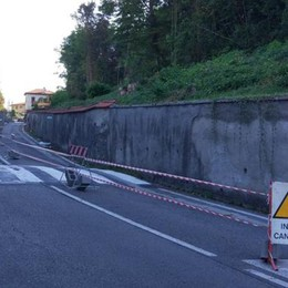 Merate ,Villa dei Cedri Partiti i lavori  per ricostruire il muro caduto