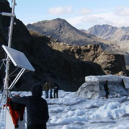 I ghiacciai senza pace, tracce di radioattività