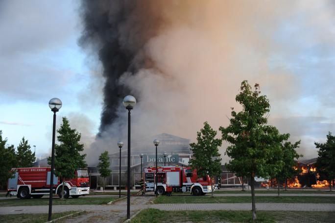Vertemate, botanic distrutto dal fuoco
