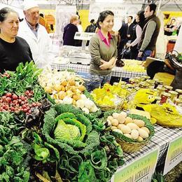 Mercato agricolo  ogni domenica  al centro Due Mani