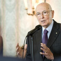 Napolitano a Lugano  «Fiducia nell'Italia»