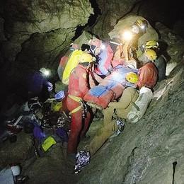 Salvati in grotta   lecchesi protagonisti