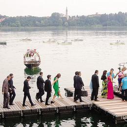 Fuochi d'artificio a Pusiano  per le nozze di Ambrosini