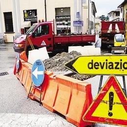 Polemica a Galbiate  per i lavori in centro