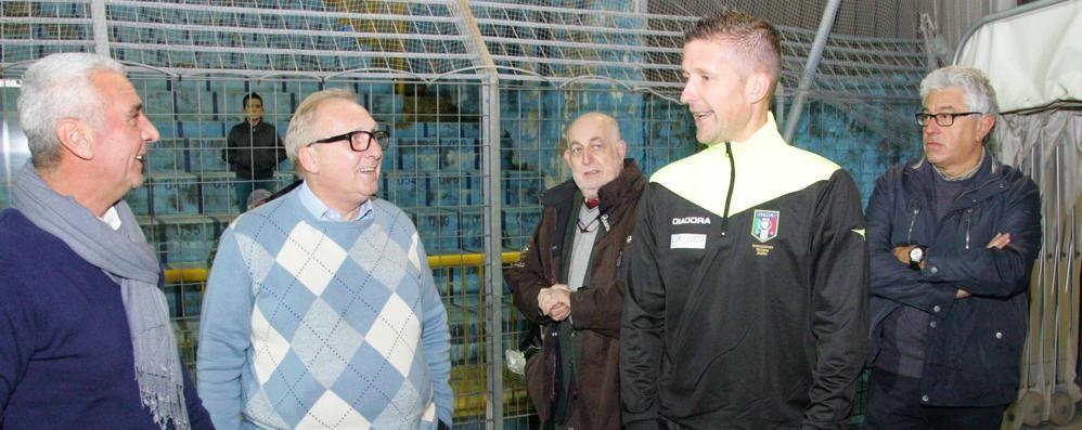 Serata in campo con Orsato  arbitro internazionale di serie A