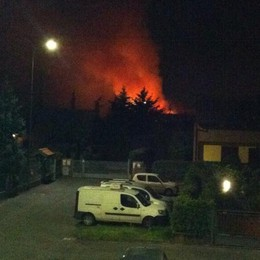 Un incendio a Verderio  Devastata la Del Curto