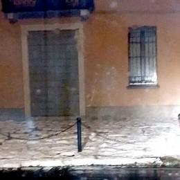 Grandinata nella notte  Allagamenti a Cantù