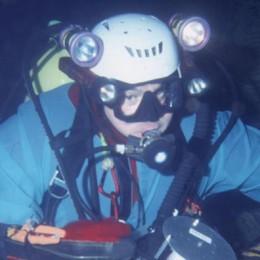 Casati, lo speleosub  a caccia del record  Superare i 210 metri