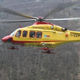 Infortunio in azienda  Soccorso con l'elicottero