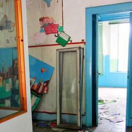 Il vecchio asilo chiuso da decenni  è terra di nessuno
