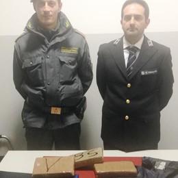 Cocaina purissima intercettata a Brogeda  La Finanza arresta una ragazza