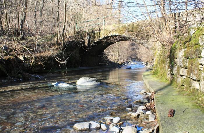 Un tratto del corso del torrente Cosia ad Albese con Cassano